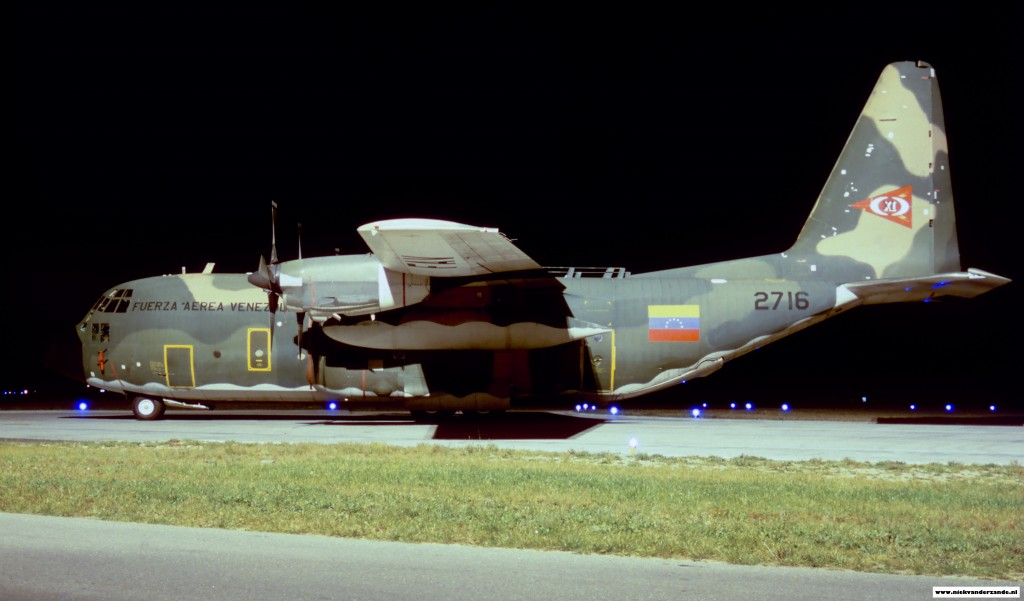 A Venezuelan Hercules in 1998. This aircraft visited Twenthe to pick up goods from HSA in Hengelo.