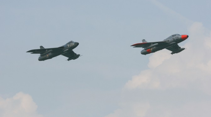 Hawker Hunters above Twenthe