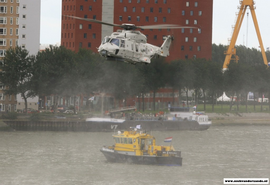 The NH-90 and Port Authority vessels were used to search for the missing person