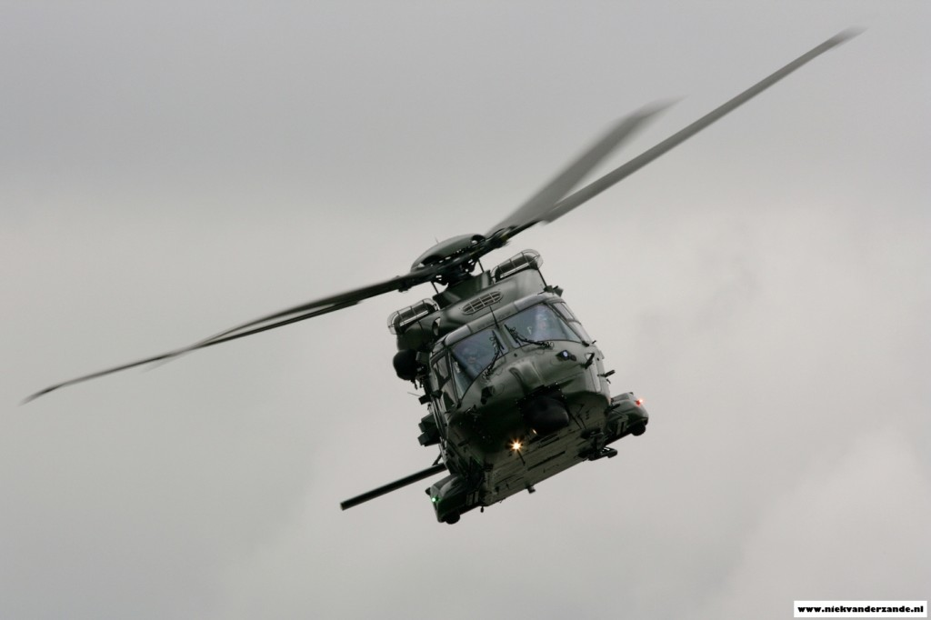 The Belgian armed forces participated with their brand new NH90 helicopter.