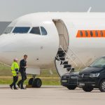 Prime Minister Mark Rutte of The Netherlands leaving Hannover