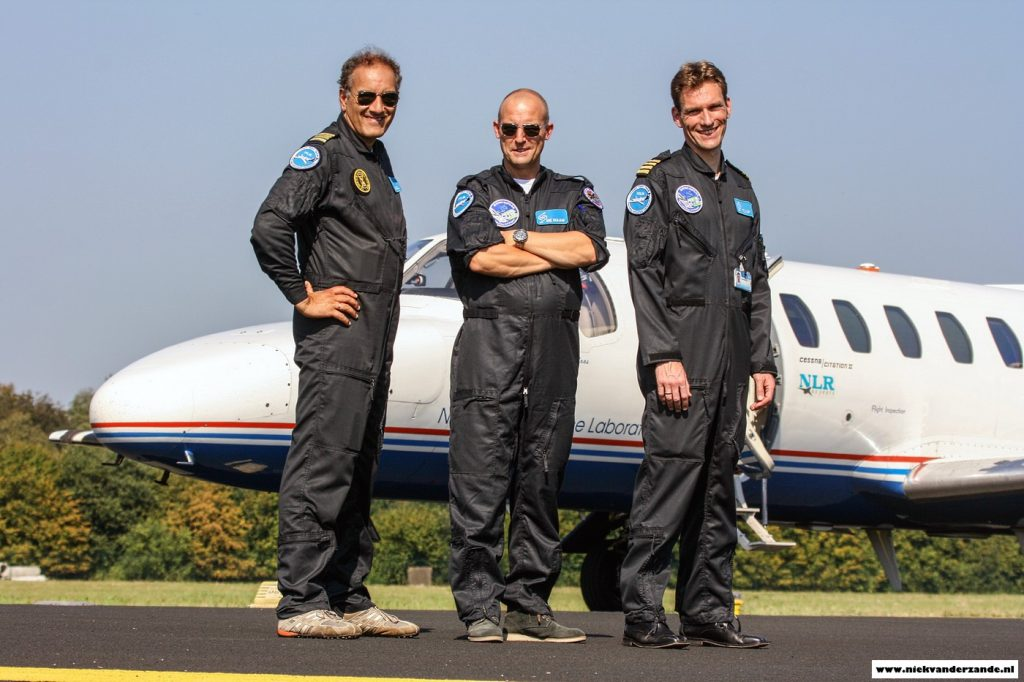 The NLR flight crew, ready for another mission.