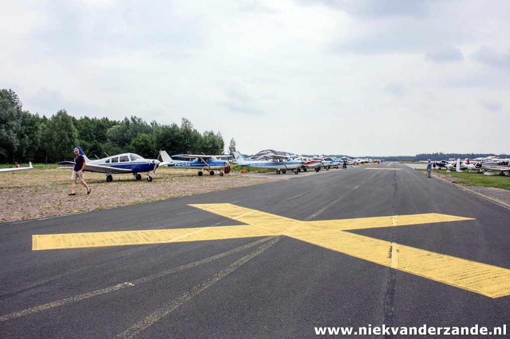 One of the parking spaces at Twente Airport