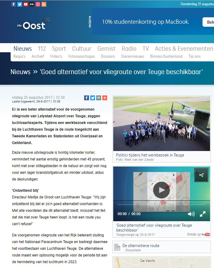 RTV Oost 25 August 2017