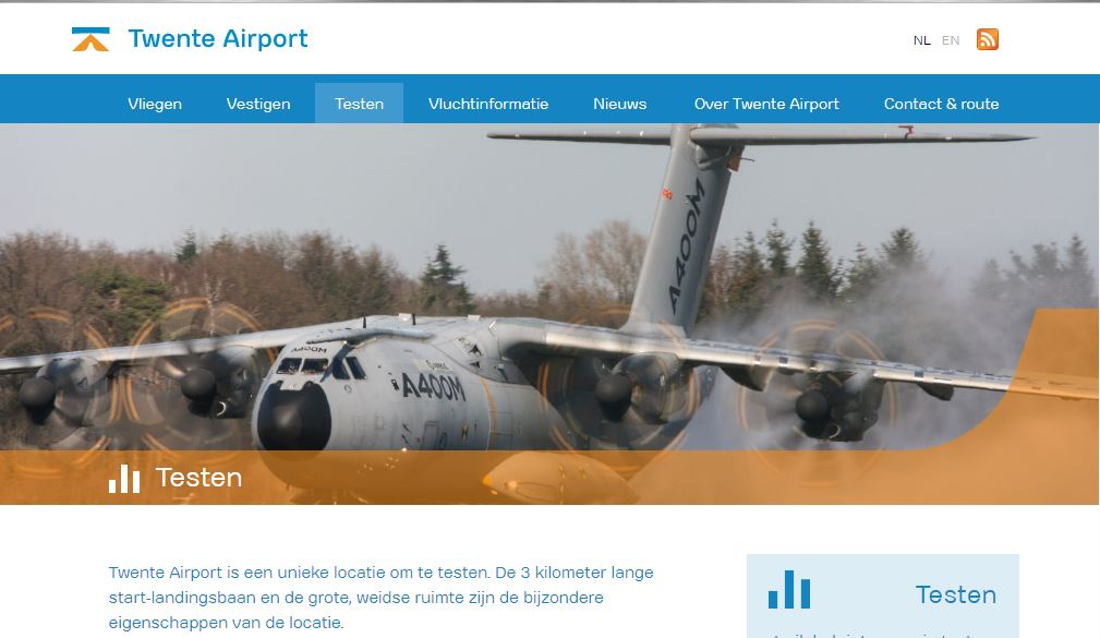 Twente Airport Website