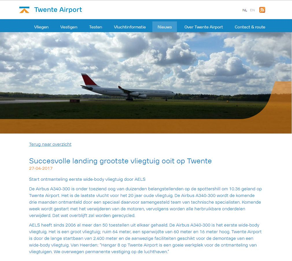 Twente Airport 27 April 2017