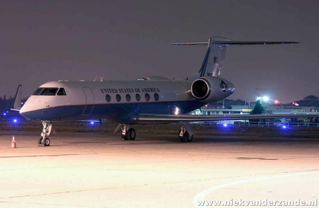 A US based Gulfstream from the USAF on the tarmac of Le Bourget