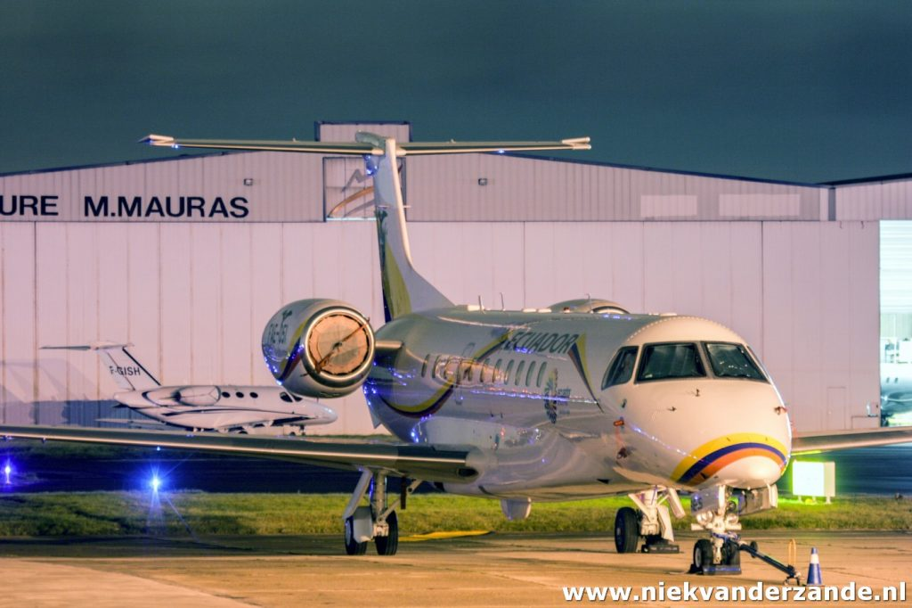The Ecuadorian presidential aircraft was parked at Le Bourget during a visit to Paris