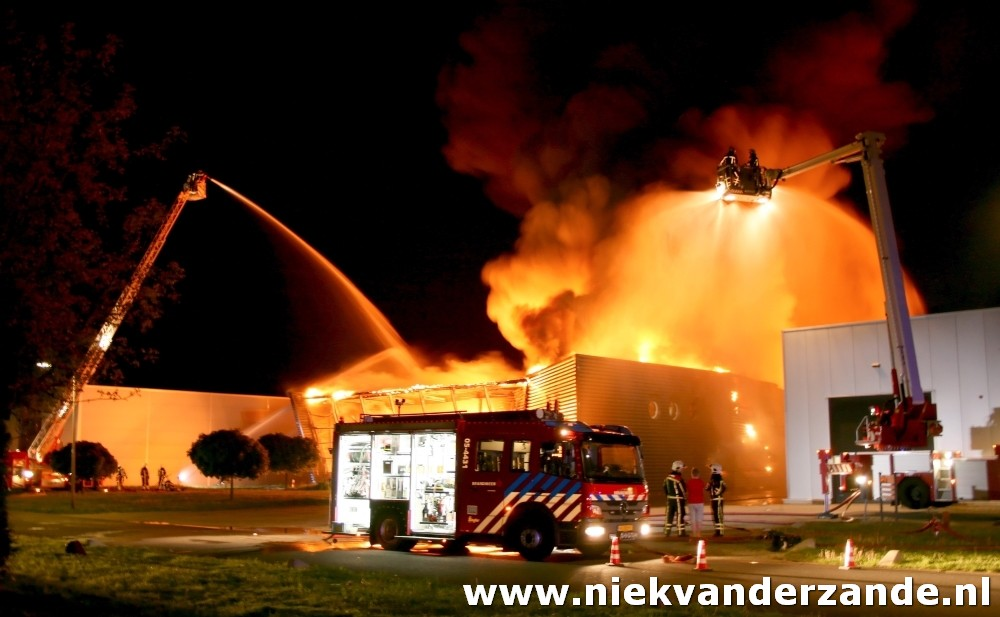 A large fire in Enschede