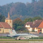 F/A-18C Hornet J-5004 Payerne church
