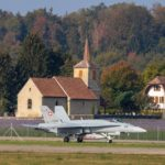 F/A-18C J-5012 Payerne church